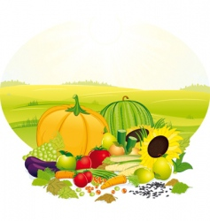 Fresh crop vector