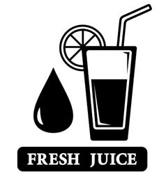 Fresh juice icon vector