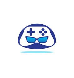 gamer robot head console symbol logo vector image
