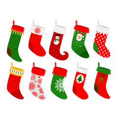 Hanging christmas socks vector