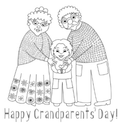 Happy grandparents day card Poster with vector image