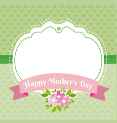 Happy mothers day tag vector