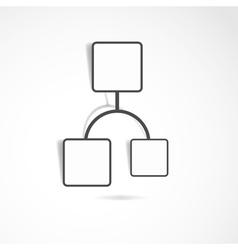 Hexagon web design vector