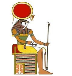 Horus isolated figure ancient egypt god vector