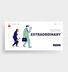 Human evolution monkey to business man website vector