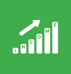 icon concept of income sales bar graph arrow vector image