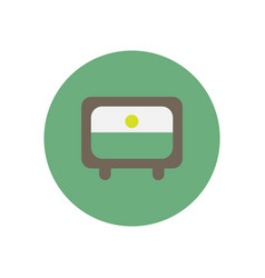 Icon on the white backgrounds in circles tv vector