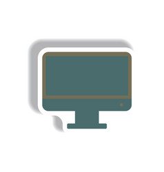 in paper sticker style tv vector image