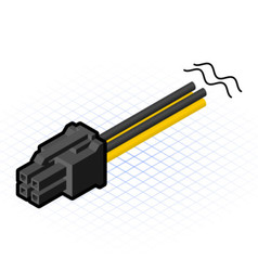 Isometric Four Pin Connector vector image