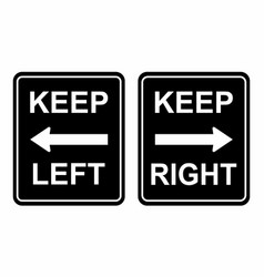 keep left and right vector image