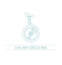 Line Art Circus Bike vector