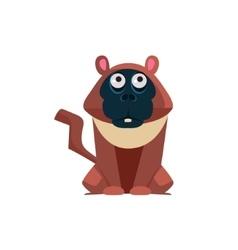 Macaque funny vector