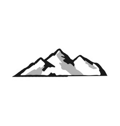 mountain silhouette shape outdoor icon isolated vector image