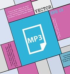 mp3 icon sign Modern flat style for your design vector image