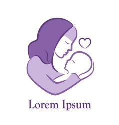 Muslim maternity emblem vector