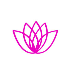 outline of a lotus flower vector image