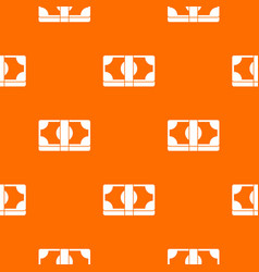 Packed dollars money pattern seamless vector