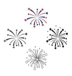 patriotic fireworks icon in cartoonblack style vector image