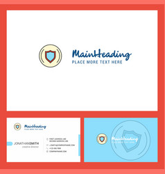 Protected sheild logo design with tagline front vector