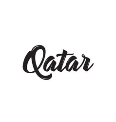 Qatar text design calligraphy typography vector