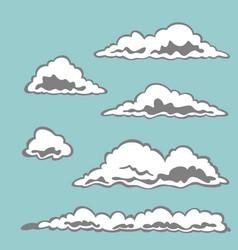 set cloud elements vector image