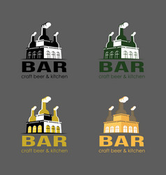 Set of beer logo loft bar vector