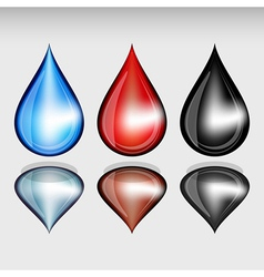 Set of color drops vector image