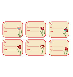 set of labels with lines for your text gift tags vector image vector image