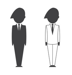 Smart businessman and businesswoman icon vector