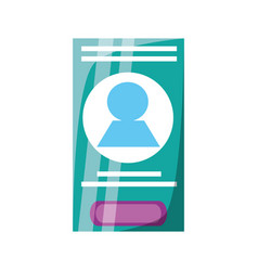 smartphone app technology vector image