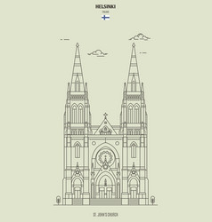 st johns church in helsinki finland vector image