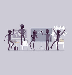 students behaving badly in a classroom vector image