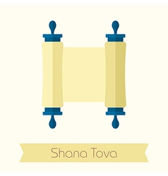Torah scroll Rosh Hashanah icon Shana tova vector