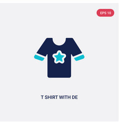 Two color t shirt with de icon from clothes vector