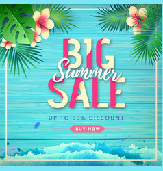 typography summer big sale poster vector image