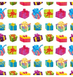 various gift boxes vector image vector image