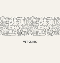 vet clinic banner concept vector image