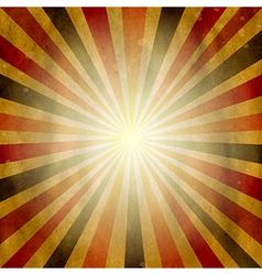 Vintage Square Shaped Sunburst vector image