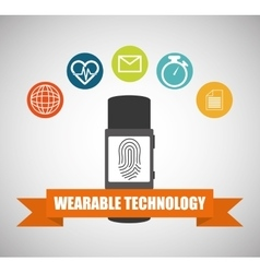 Wearable technology smartwatch healthy banner vector