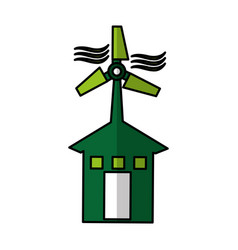 Windmill energy alternative icon vector