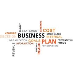 Word cloud business plan vector