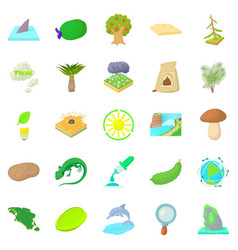 isle icons set cartoon style vector image
