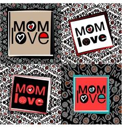Mom love pattern vector