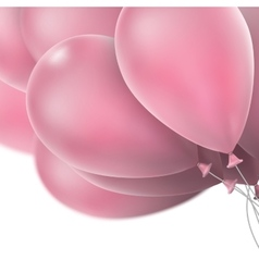 Pink glossy balloons EPS 10 vector image vector image