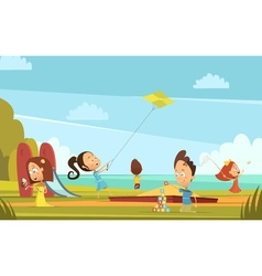 Playing Children Background vector image vector image