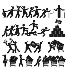 SELL ON BLACK FRIDAY vector image vector image