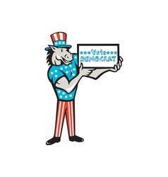 Vote Democrat Donkey Mascot Standing Cartoon vector image vector image