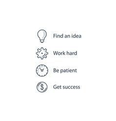 Business motivation concept vector