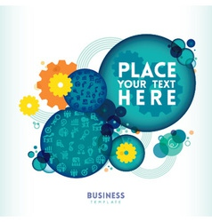 Circle shape Business Design Layout vector image vector image
