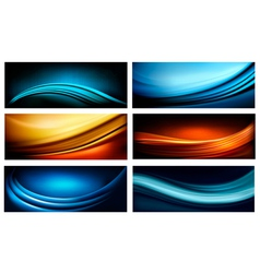 Set of business elegant colorful abstract vector image vector image